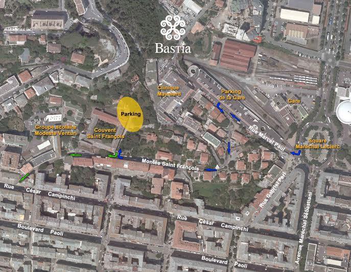 Recalibrage du ruisseau du Guadellu : Un nouveau parking gratuit à Bastia