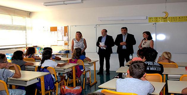 Ajaccio : Laurent Marcangeli à l'école bilingue du Loretto pour la rentrée