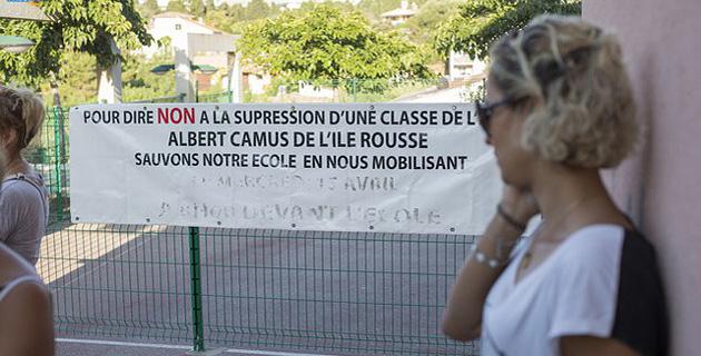 Rassemblement à L'Ile-Rousse pour dire non à la suppression d'une classe
