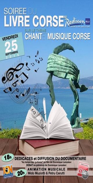 Soirée dédiée au livre et à la musique Corse au Radisson Blu de Porticcio