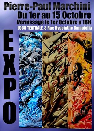 Pierre-Paul Marchini expose du 1er au 15 Octobre au Spaziu Culturali Locu Teatrale
