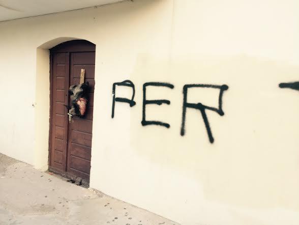 L'Ile-Rousse : Une tête de sanglier sur le lieu de culte musulman