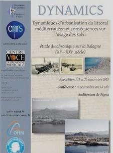 """""""Etude diachronique sur la Balagne"""" : Exposition et conférence à l'auditorium de Pigna"""