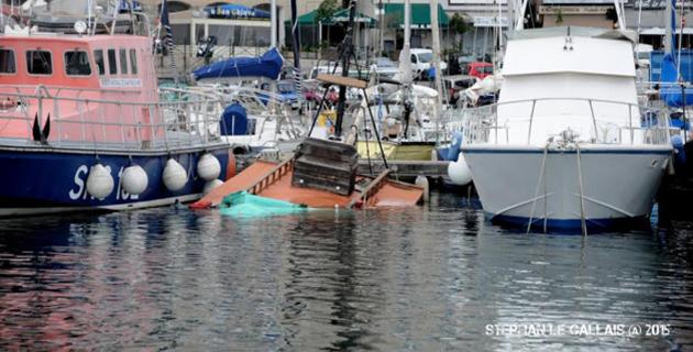 Le bateau a coulé au Vieux-Port de Bastia