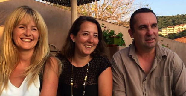 Les membres de l'opposition au Conseil municipal de Propriano : Carine Gariod Nicolai, Charlotte Cesari et Jean Pierre Morini.