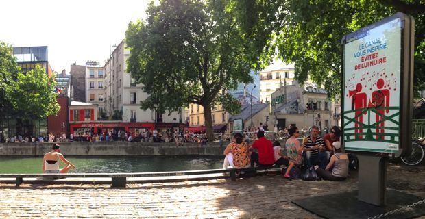 Le canal Saint Martin à Paris.