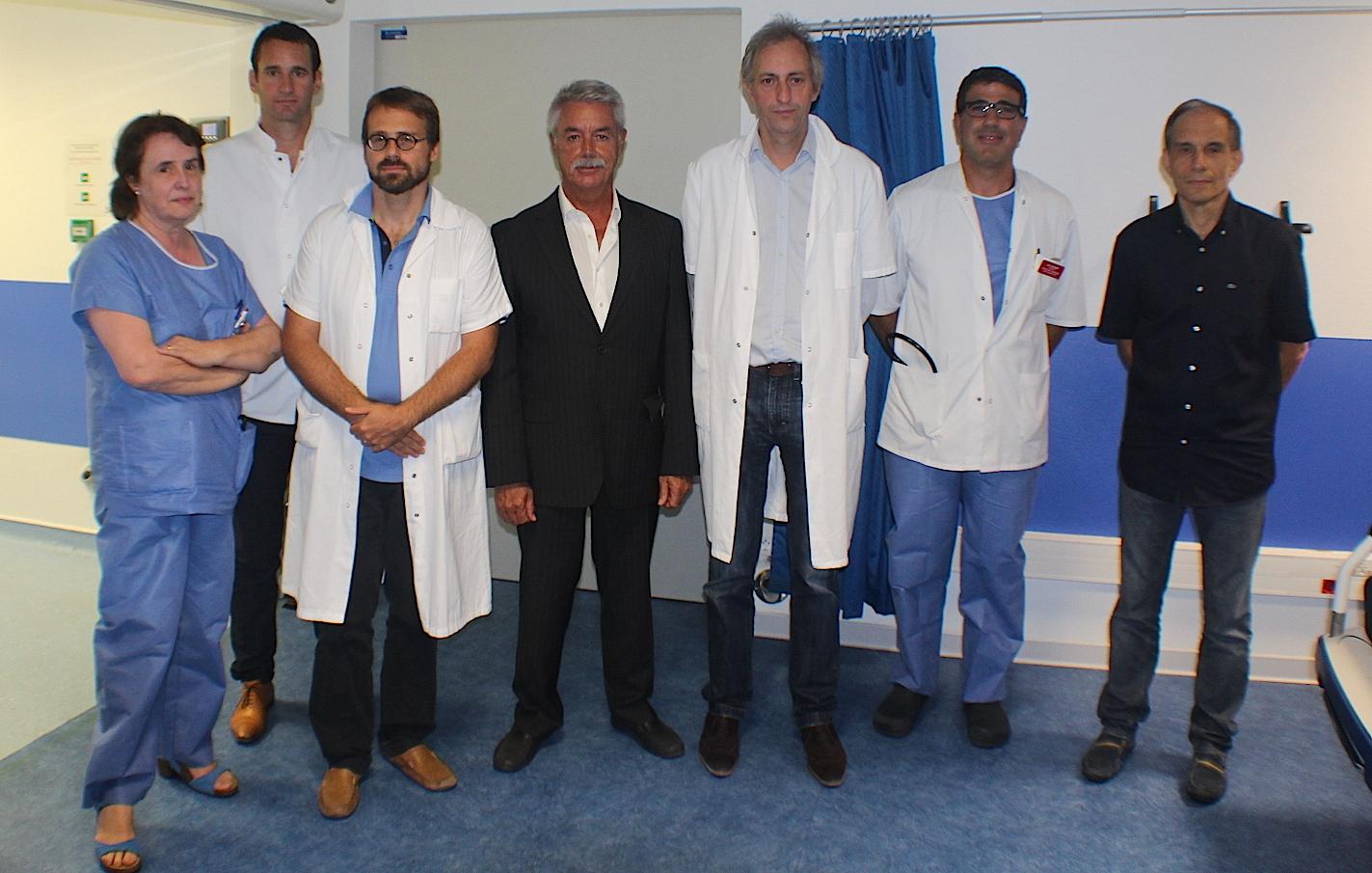 Les praticiens marseillais autour de Pascal Forcioli, directeur du centre hospitalier de Bastia