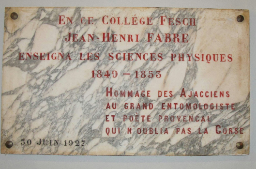 """Société des Sciences de la Corse : """"Jean-Henri Fabre, le mathématicien devenu naturaliste"""""""