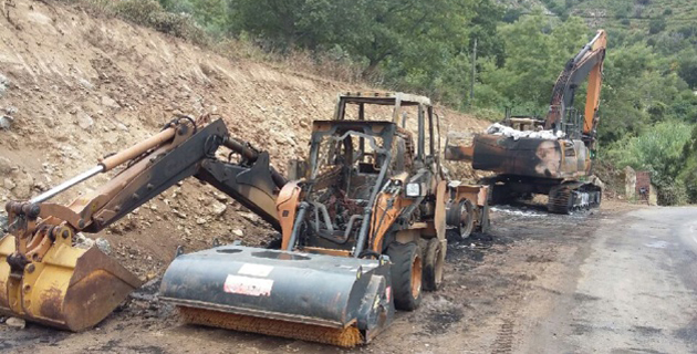 Ville-di-Paraso : Trois engins de BTP détruits par un incendie criminel