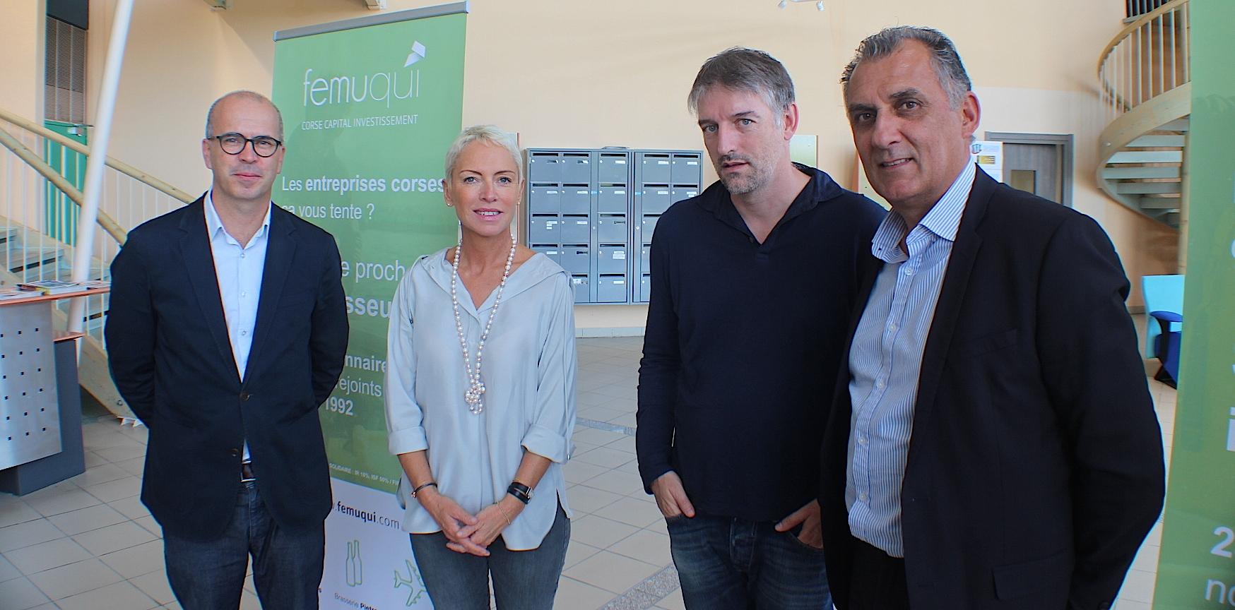 Charles Vellutini, Sandrine Leccia, Sébastien Simoni et Yves de Laroche