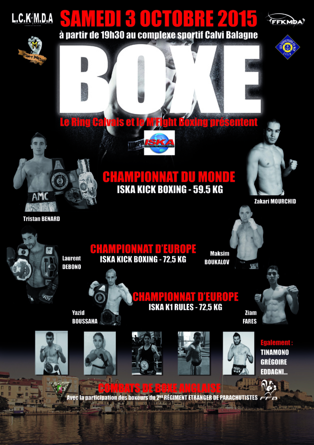 Première chance mondiale en kick boxing pour le Français Tristan Bernard au Complexe sportif de Calvi