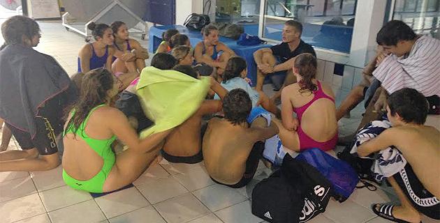 Jean-Baptiste Patamia avec ses nageurs
