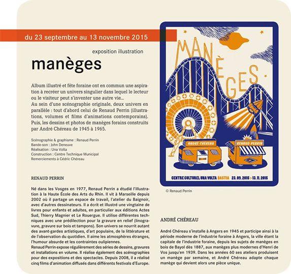 "Bastia : L'exposition ""Manège"" de Renaud Perrin et André Chereau au Centre Culturel Una Volta"