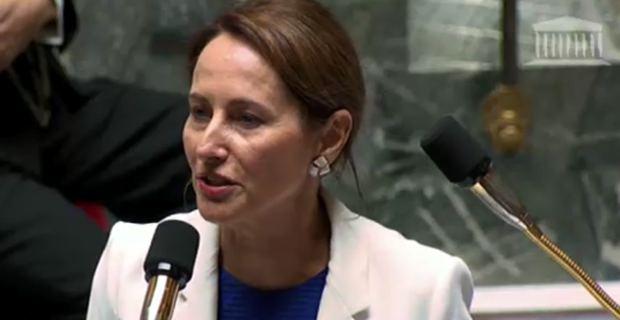 Ségolène Royal, ministre de l'Ecologie, du développement durable et de l'énergie, répondant aux questions orales à l'Assemblée nationale.