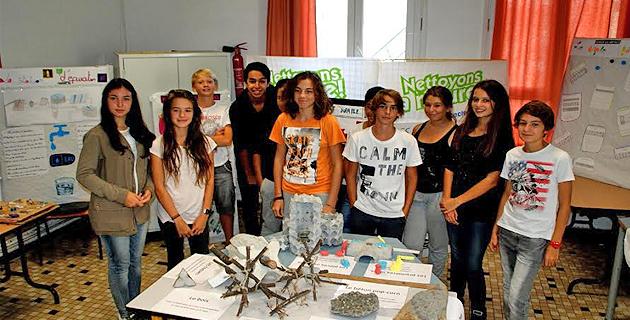 Le tri sélectif s'expose avec succès au collège Pascal Paoli de L'Ile-Rousse