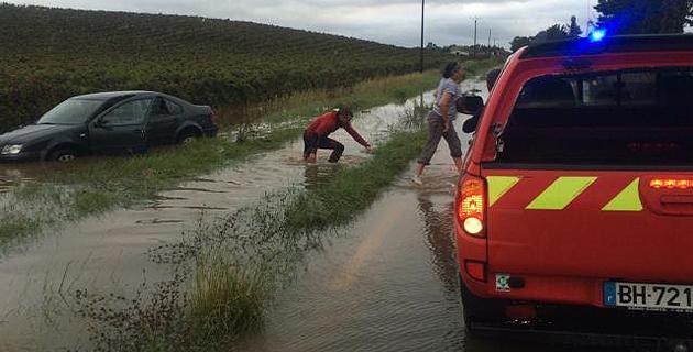 Les pompiers sont intervenus à plusieurs reprises pour mettre des automobilistes en sécurité en Plaine Orientale