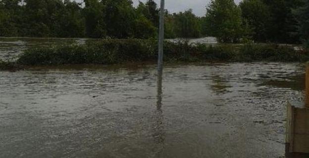 La plaine de Folelli sous les eaux.