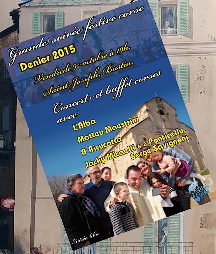 Bastia : Soirée festive à Saint-Joseph pour le Denier 2015