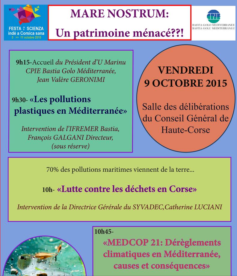 """Fête de la Science à Bastia : """"Mare Nostrum, un patrimoine menacé ?"""""""