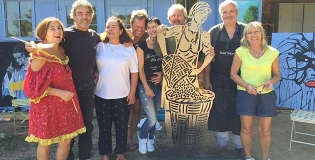 Venzolasca : L'Atelier du sculpteur Frets décoré par un collectif d'artistes
