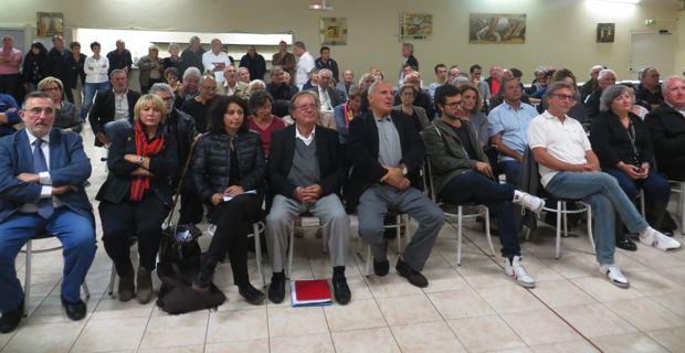 """Les candidats de la liste """"A Corsica in cumunu""""."""