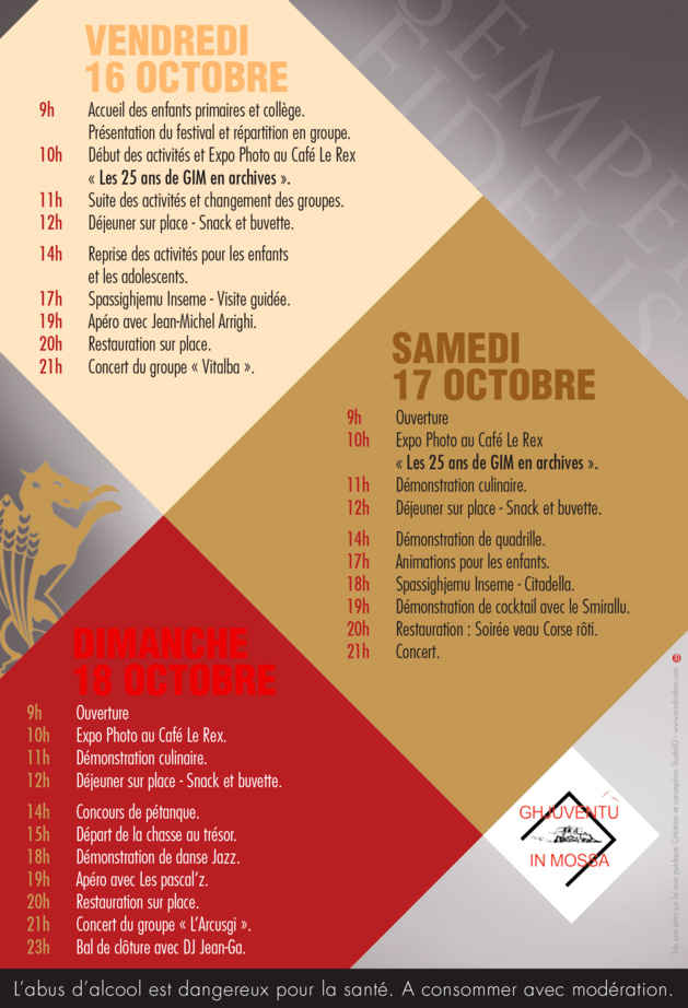 2ème édition de Calvi in Mossa du 16 au 17 octobre inclus