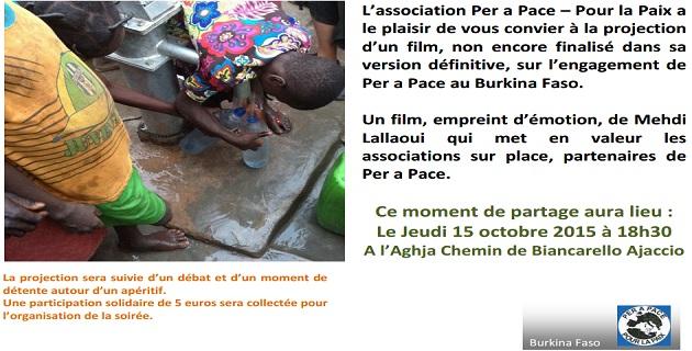 Burkina Faso : Film et débat à l'Aghja