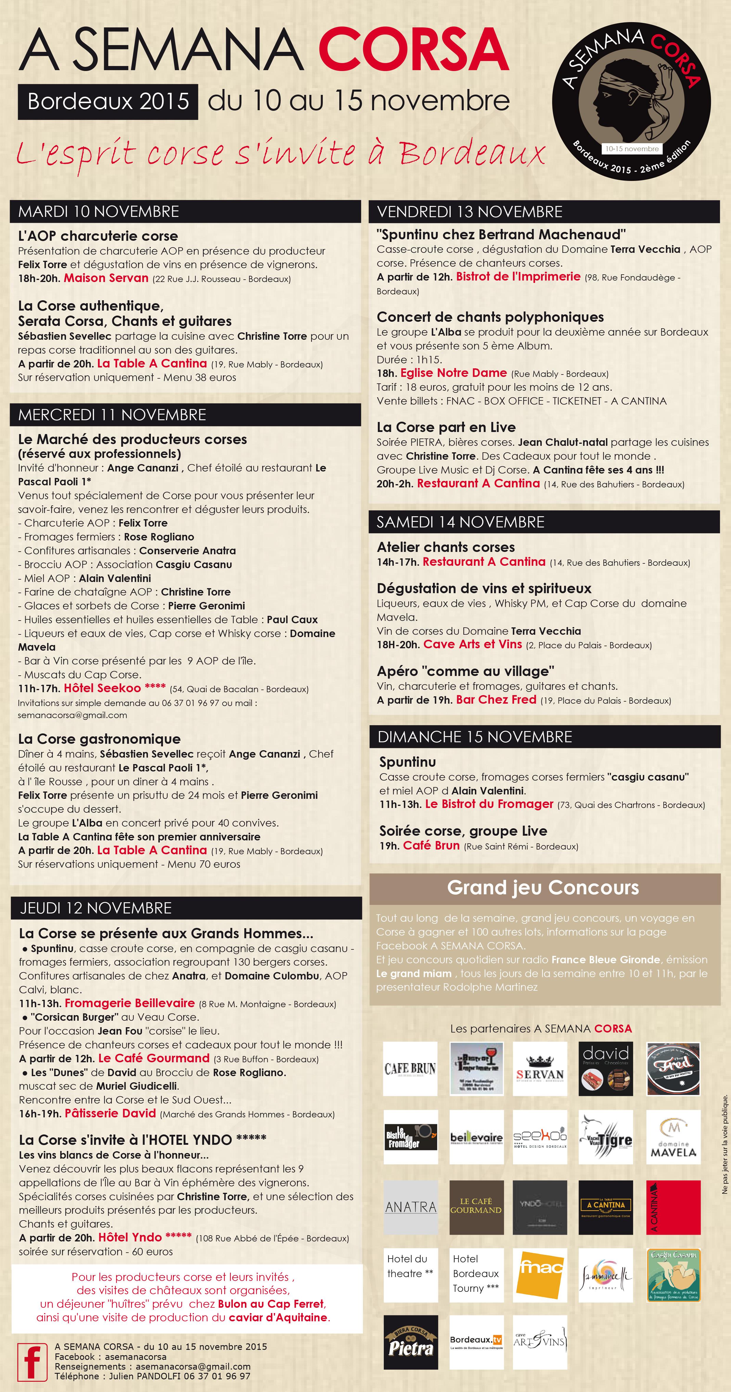 L'esprit corse s'invite à Bordeaux du 10 au 15 novembre
