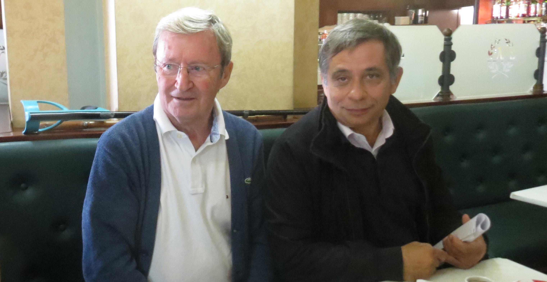 Vincent Carlotti, leader de la Gauche autonomiste et représentant d'Anticor en Corse, et Henri Malosse.