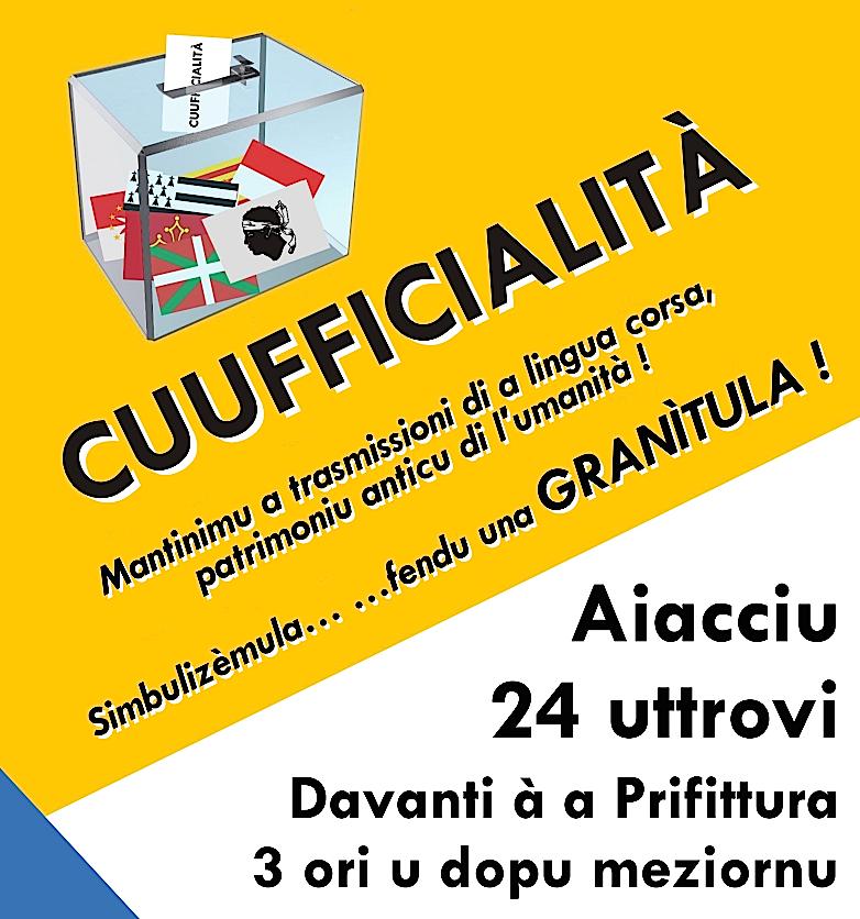 Azzioni simbòlica di u Cullittivu « Parlemu Corsu !