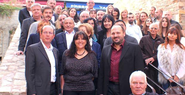 Les candidats de la liste « U Rinnovu Naziunali » autour de Paul-Félix Benedetti.