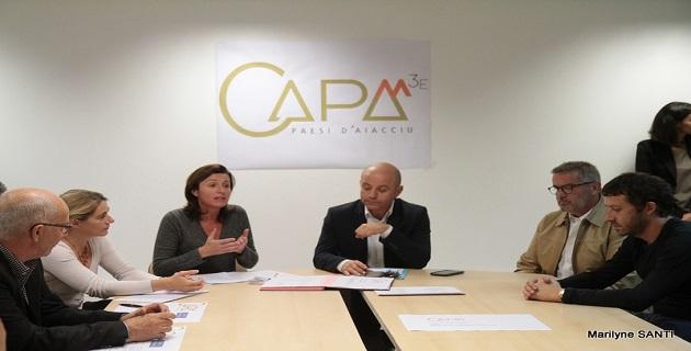 Jean-Jacques Ferrara, Président de la CAPA, Marie Antoinette Santoni-Brunelli, 3e Vice-Présidente déléguée au développement économique et au numérique