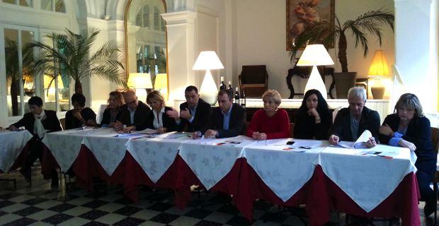 Les candidats de Femu à Corsica présentent leur programme économique.