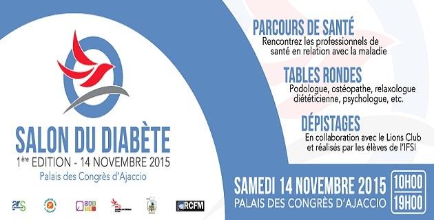 Le premier salon du diabète de Corse le 14 novembre Ajaccio