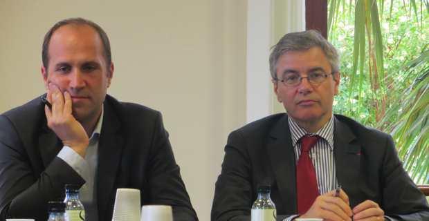 Yannick Castelli, maire de Penta-di-Casinca et conseiller général, et Alain Thirion, préfet de Haute-Corse.