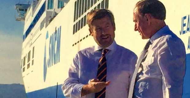 L'armateur grec, Alexander Panagopulos, et Christian Garin, ancien président du Port Autonome de Marseille et ancien président de l'association des armateurs de France, candidats à la reprise de la SNCM.