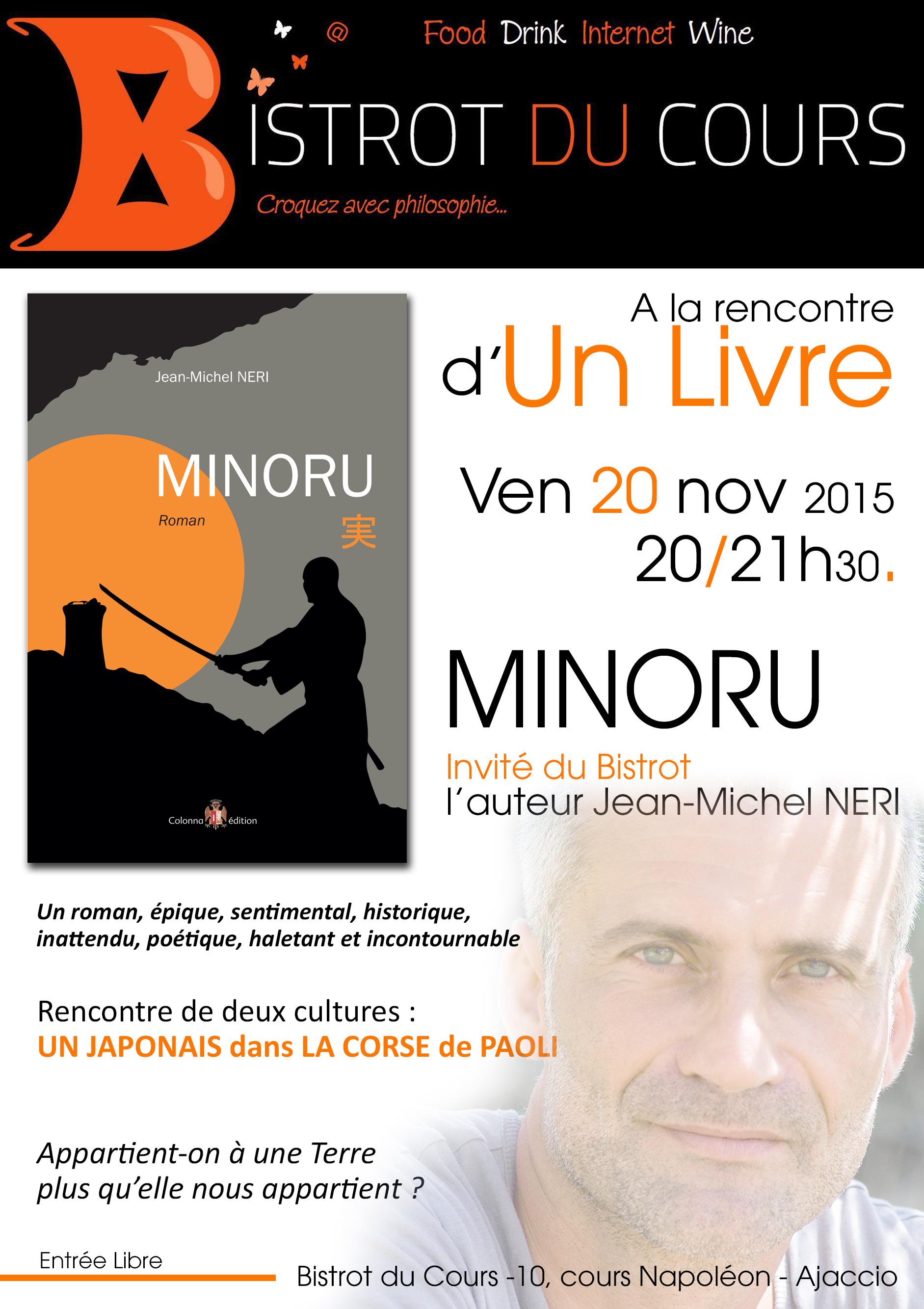 """""""Minoru de Jean-Michel Neri"""" quand un samourai rencontre la Corse de Pascal Paoli"""