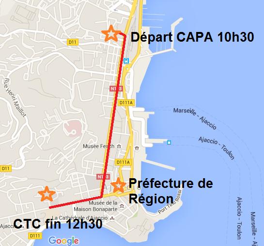 Marche pour le Climat le 28 novembre à Ajaccio.