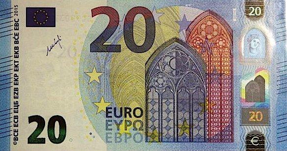 Bastia : Mise en circulation du nouveau billet de 20 €