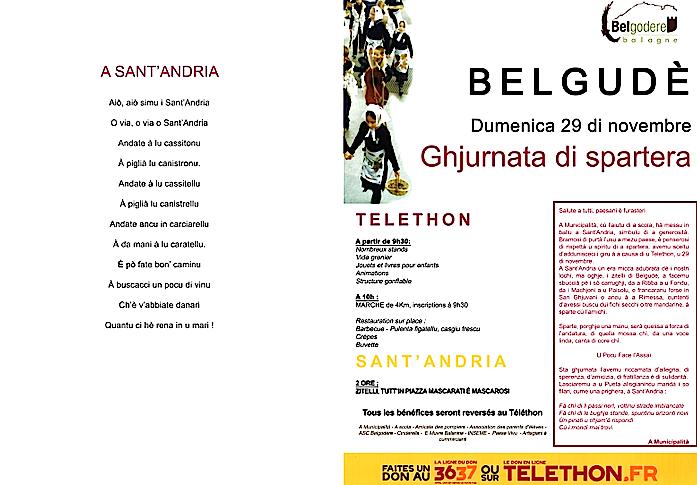 Téléthon et Sant'Andria in Belgudè