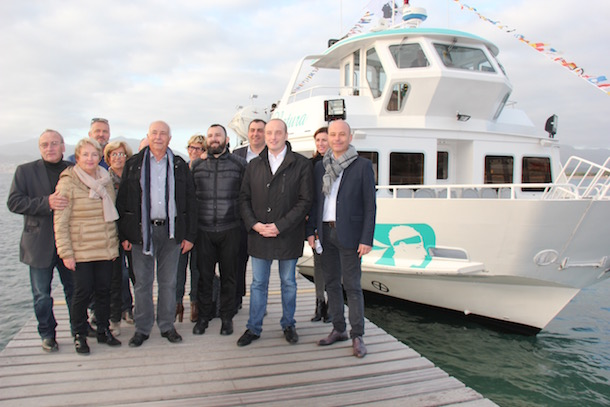 Inauguration de la navette maritime par les élus mardi 1er décembre
