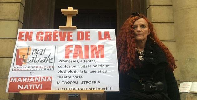 Ajaccio : Marianna Nativi cesse sa grève de la faim. Jean-Paul Poletti et Jacques Fieschi prennent le relais !