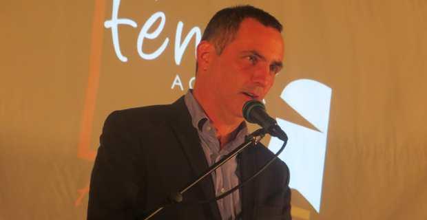 Gilles Simeoni, maire de Bastia, conseiller territorial sortant et leader de la liste Femu a Corsica.