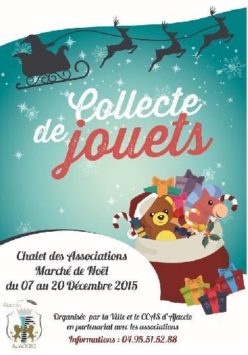 Collecte de jouets organisée par le CCAS d'Ajaccio