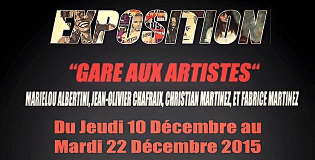"""Gare d'Ajaccio : """"Gare aux Artistes"""" une exposition jusqu'au 22 décembre"""