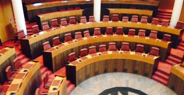 L'hémicycle de l'Assemblée territoriale de Corse.