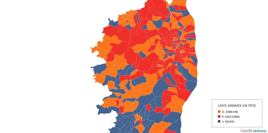 Tous les résultats du 2ème tour, commune par commune, sur une carte interactive