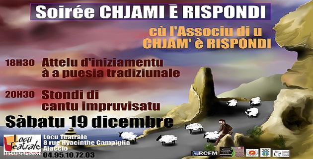 Ajaccio  Une soirée Chjami è Rispondi à Locu Teatrale