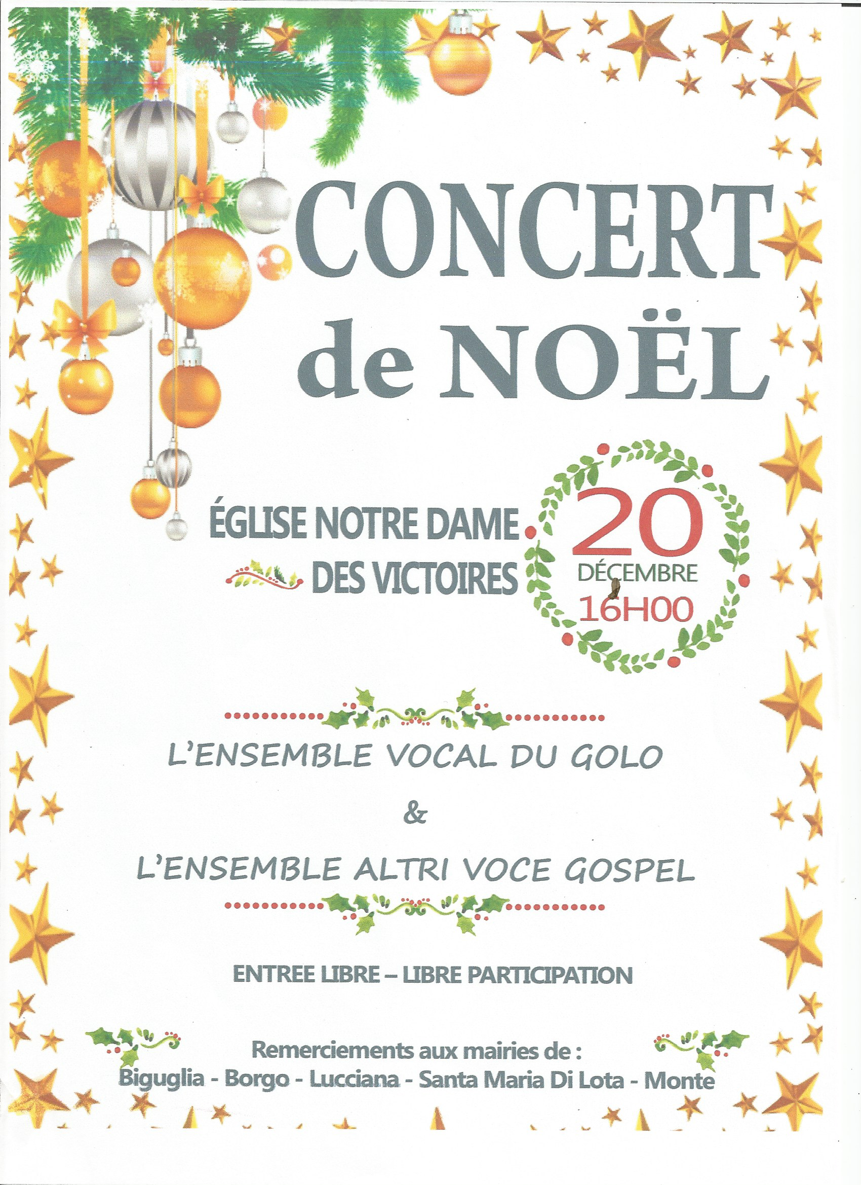 Bastia : L'Ensemble vocal du Golo et l'ensemble Gospel Altri Voce vont chanter Noël