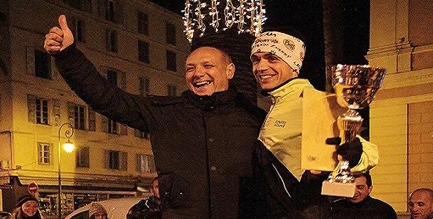 Stéphane Vannuci et le lauréat Romain Salomon-Dumont
